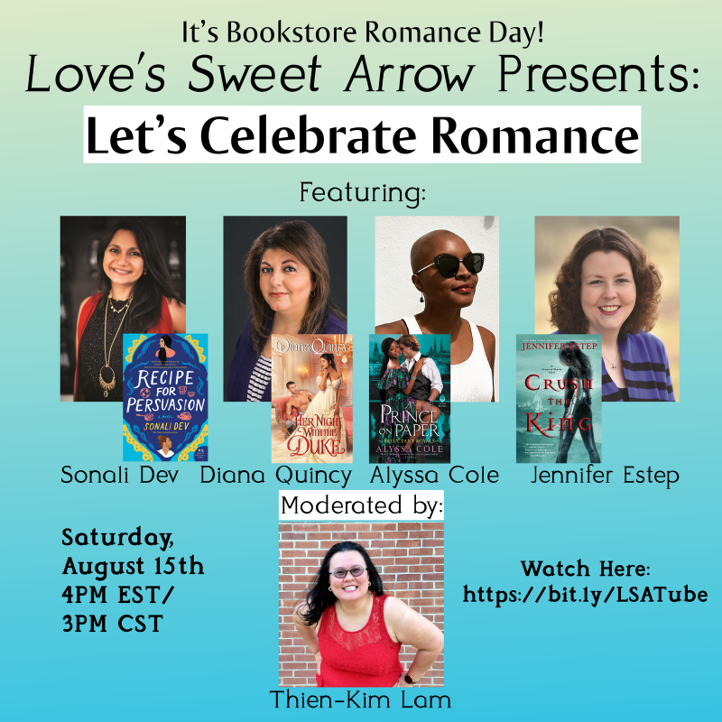 romance bookstore day at Love's Sweet Arrow