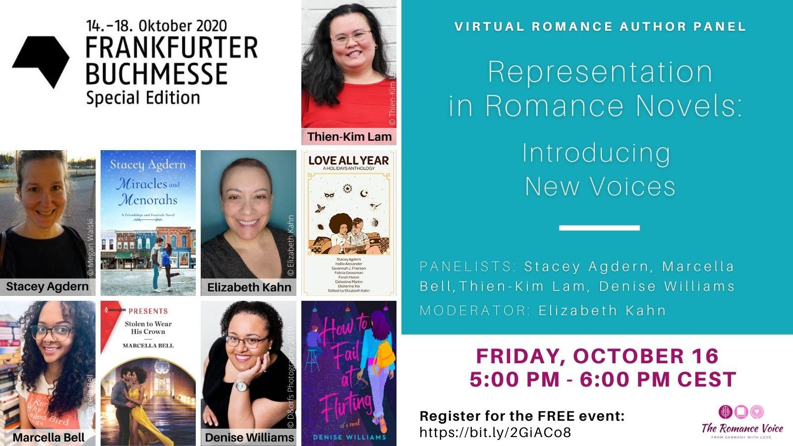 Frankfurt Book Fair 2020 Panel: Representation in Romance Novels: Introducing New Voices