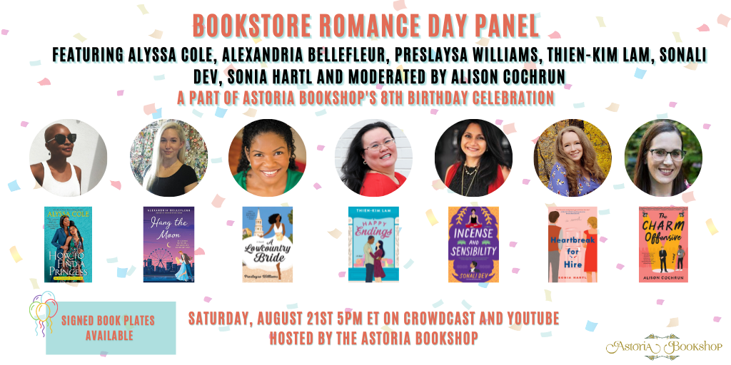 Astoria Bookshop Bookstore Romance Day